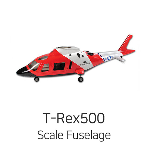 엑스캅터 - ALIGN T-REX 500 AGUSTA A-109 Scale Fuselage(US Pacific Coast Guard Verison)