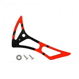 CNC CF Tail Fin Set (Black-Red) - Blade 180 CFX - 드론정보 & 쇼핑