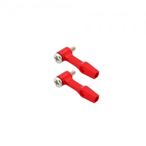 엑스캅터 - [NCPX 부품] CNC AL DFC Linkage Set (Red) - Blade Nano CPX