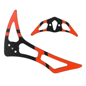 드론장 - [200SRX 부품] CNC CF Tail Fin Set (Black-Red)