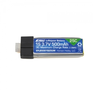 엑스캅터 - E-flite 1S 25C LiPo Battery Pack (3.7V/500mAh) Glimpse/180QX