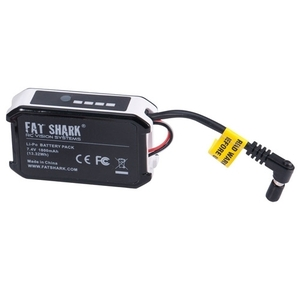엑스캅터 - Fatshark 7.4V 1800mAh battery pack w/LED indicator FSV1803