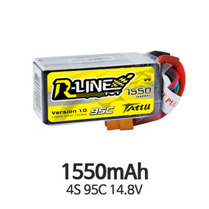 엑스캅터 - Tattu R-Line 1550mAh 95C 4S1P lipo battery pack 3개 묶음