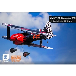 엑스캅터 - P3 레볼루션 BNF (E-flite UMX™ P3 Revolution /AS3X / RC비행기)