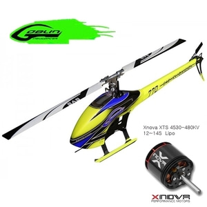 엑스캅터 - RC 헬기 SAB 고블린 770 Competition Flybarless Electric Heli Blue Kit + XTS 4530-480kv