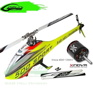 엑스캅터 - RC 헬기 SAB 고블린 500 Sport Yellow/Red + Xnova 4020-1200KV 2Y 8P