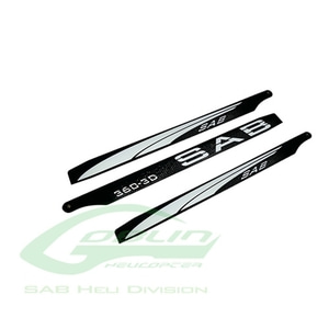엑스캅터 - Black Line Carbon Fiber Main Blades 360mm - Goblin 380 KSE