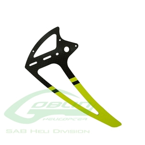 엑스캅터 - H0242-S - Carbon Fiber Tail Fin Yellow - Goblin 500