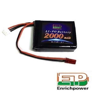엑스캅터 - EP파워 2S LiPo Receiver Battery Pack 7.4V 2000mAh 8IGHT