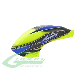엑스캅터 - H0381-S - Canomod Airbrush Canopy Yellow/Blue - Goblin 700/770 Competition