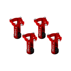 엑스캅터 - Rakonheli CNC AL 8mm Brushed Motor Mount and Landing Gear (4) (Red) (for 8074DQX980, 8090RQX980)