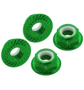 엑스캅터 - CNC AL M5 Serrated Lock Nut (CW) (Green)