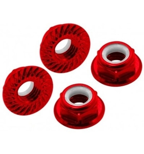 엑스캅터 - CNC AL M5 Serrated Lock Nut (CW) (Red)