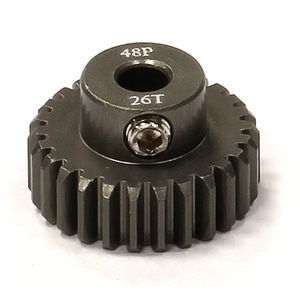 엑스캅터 - Billet Machined Hard Anodized Aluminum 48 Pitch Pinion 37 Teeth for 0.125 Shaft