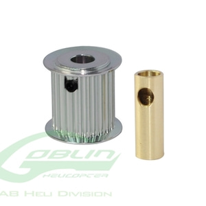 엑스캅터 - Aluminum Motor Pulley 21T (for 6/8mm motor shaft) - Goblin 770/Goblin 700 Competition [H0175-20-S]