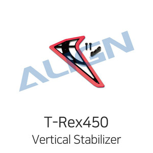엑스캅터 - 얼라인 티렉스 450L Vertical Stabilizer (Fluorescence Orange)