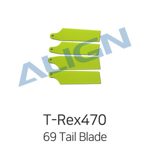 드론장 - 얼라인 티렉스 450L/470L 69 Tail Blade - Fluorescence Yellow