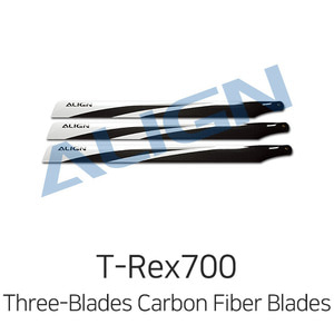 엑스캅터 - 얼라인 티렉스 700E Three-Blades Carbon Fiber Blades - 3ea