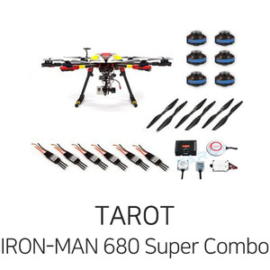 엑스캅터 - 타롯 IRON-MAN 680 PRO HEXA COPTER Super Combo(ZYX-M/4S/Retractable)