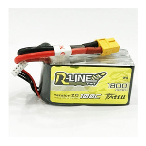 엑스캅터 - Tattu R-Line 1800mAh 100C 4S1P 14.8V lipo battery pack w/XT60