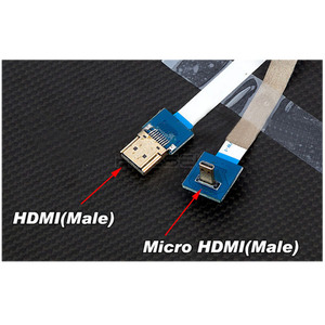 엑스캅터 - HDCVT Micro HDMI to Mini HDMI Flexible AV 변환 Cable(M-F)