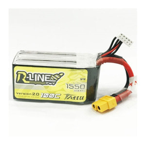 엑스캅터 - Tattu R-Line 1550mAh 100C 14.8V 4S1P lipo battery pack w/XT60