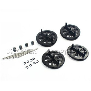 [ARdrone2.0 부품] Motor Pinion Gear + Gears + Shaft + Circlip x 4 (PF070047)  - 드론정보 & 쇼핑