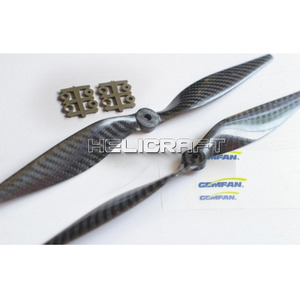 엑스캅터 - [GEMFAN] 1365 Slow Flyer Props(Carbon fiber)-black [13x6.5]